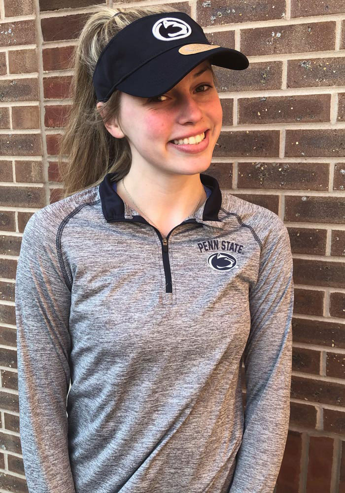 Colosseum Penn State Womens Grey Athena 1/4 Zip Pullover - Image 2