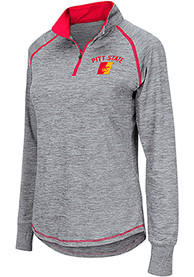 Pitt State Gorillas Womens Colosseum Athena 1/4 Zip - Grey