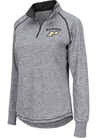 Purdue Boilermakers Womens Colosseum Athena 1/4 Zip - Grey