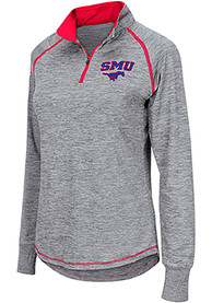 SMU Mustangs Womens Colosseum Athena 1/4 Zip - Grey