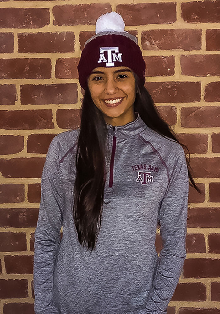 Colosseum Texas A&M Womens Grey Athena 1/4 Zip Pullover - Image 2
