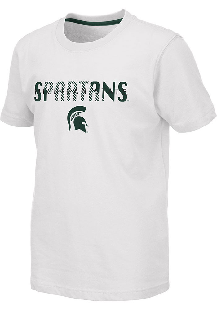 Colosseum Michigan State Spartans Youth White Tucuman Short Sleeve Fashion T-Shirt - Image 1