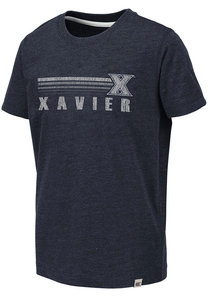 Colosseum Xavier Musketeers Youth Navy Blue Toronto Short Sleeve Fashion T-Shirt - Image 1