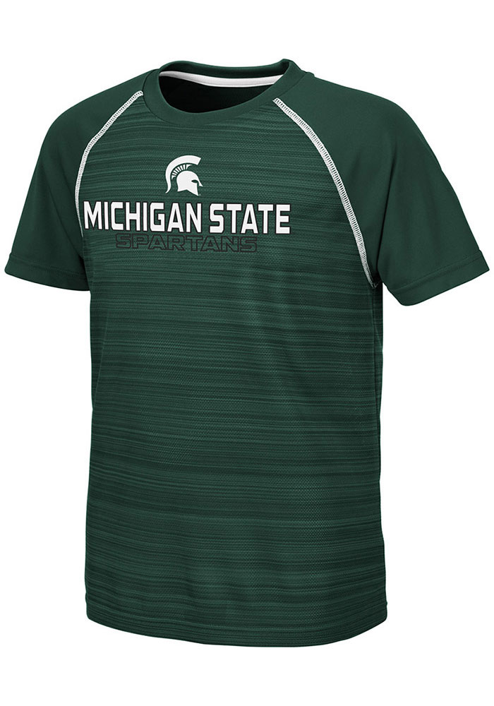 Colosseum Michigan State Spartans Youth Green Buenos Aires Short Sleeve T-Shirt - Image 1