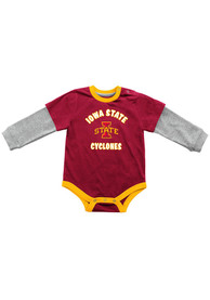Colosseum Iowa State Cyclones Baby Cardinal Thermal One Piece
