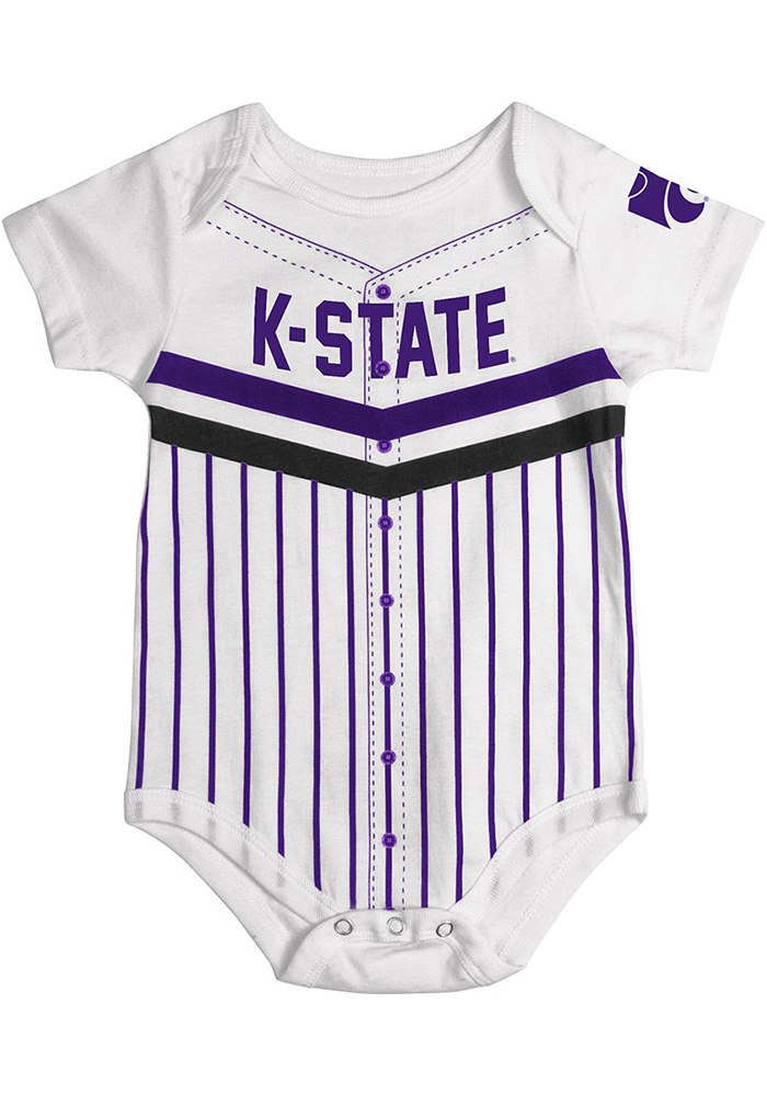 Colosseum K-State Wildcats Baby Purple Curveball Short Sleeve One Piece - Image 1