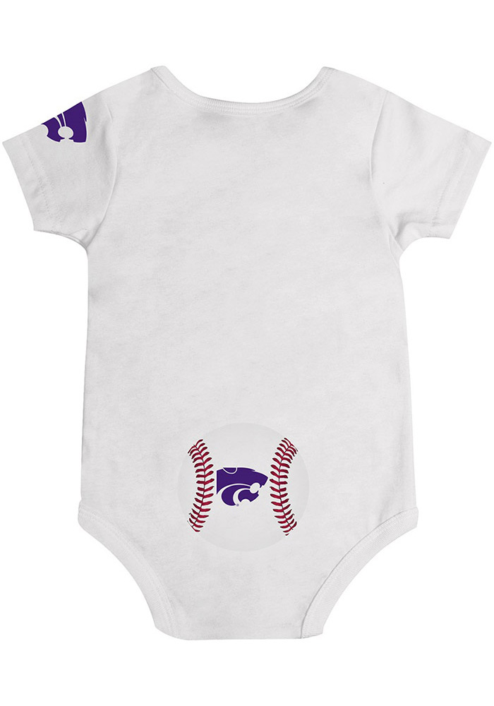 Colosseum K-State Wildcats Baby Purple Curveball Short Sleeve One Piece - Image 2