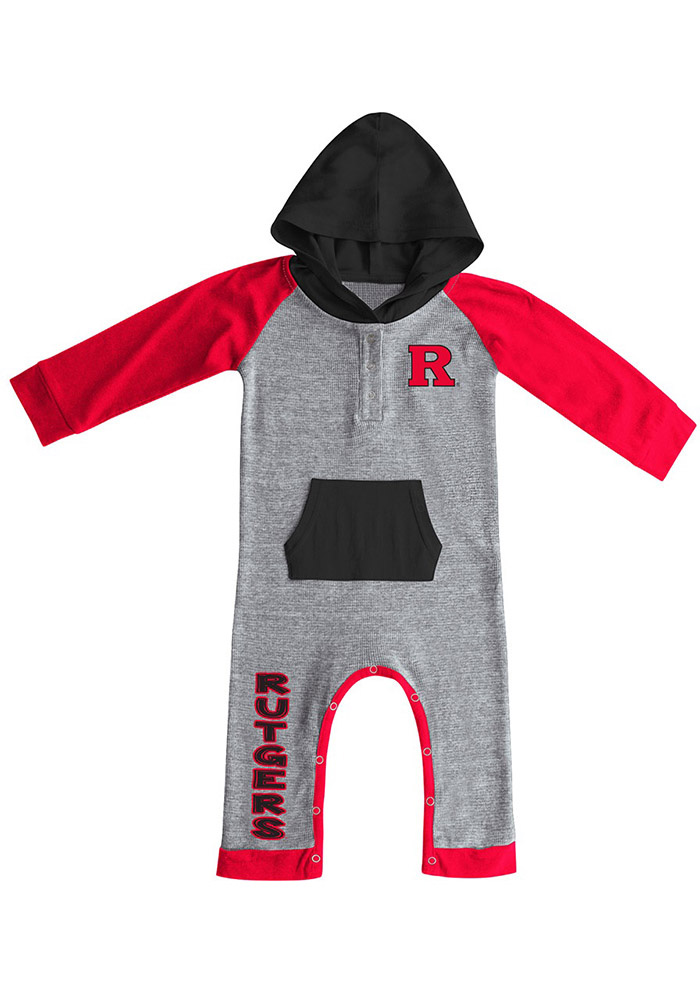 Colosseum Rutgers Scarlet Knights Baby Red Robin Hood Short Sleeve One Piece - Image 1