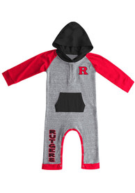 Colosseum Rutgers Scarlet Knights Baby Red Robin Hood One Piece