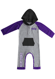 Colosseum TCU Horned Frogs Baby Purple Robin Hood One Piece