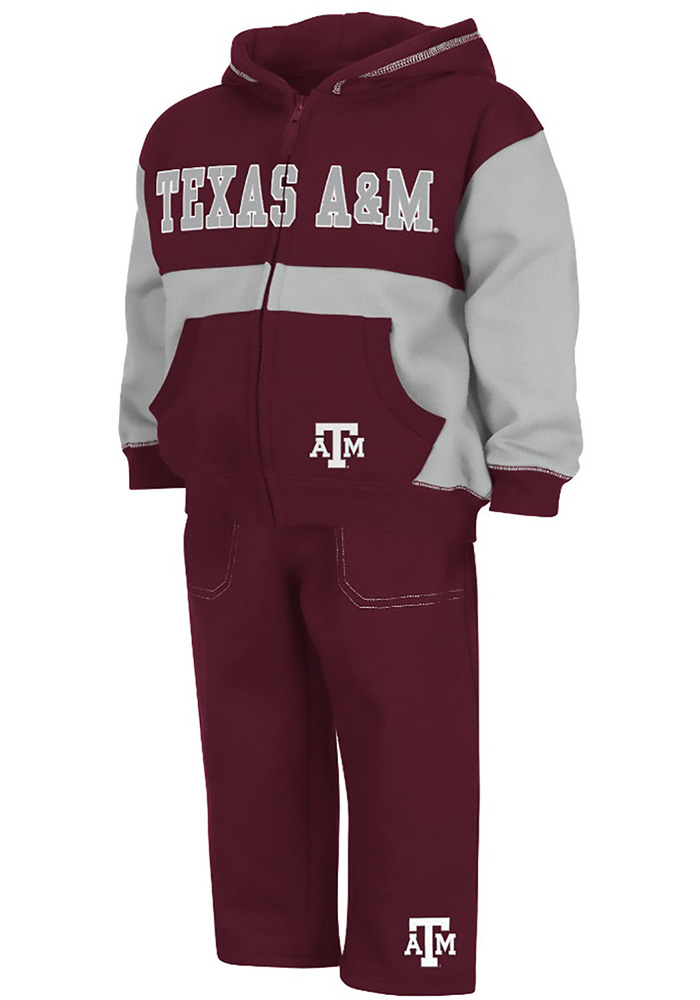 Colosseum Texas A&M Aggies Toddler Maroon Midfield Set Top and Bottom - Image 1