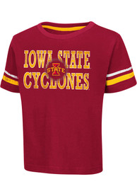 Colosseum Iowa State Cyclones Toddler Cardinal Touch Down T-Shirt