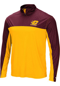 Central Michigan Chippewas Colosseum Luge 1/4 Zip Pullover - Gold