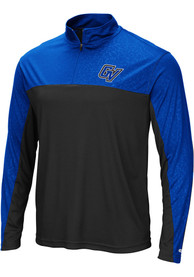 Grand Valley State Lakers Colosseum Luge 1/4 Zip Pullover - Black