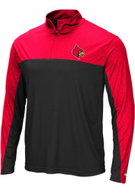 Louisville Cardinals Colosseum Luge 1/4 Zip Pullover - Black