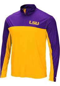 LSU Tigers Colosseum Luge 1/4 Zip Pullover - Yellow