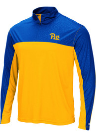 Pitt Panthers Colosseum Luge 1/4 Zip Pullover - Gold