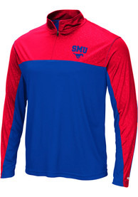 SMU Mustangs Colosseum Luge 1/4 Zip Pullover - Blue