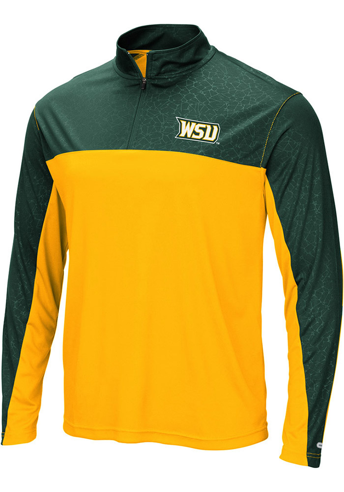 Colosseum Wright State Raiders Mens Gold Luge Long Sleeve 1/4 Zip Pullover - Image 1