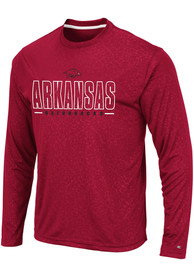 Arkansas Razorbacks Colosseum Luge Perf T-Shirt - Cardinal
