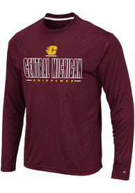 Central Michigan Chippewas Colosseum Luge Perf T-Shirt - Maroon