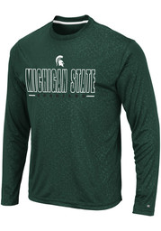 Michigan State Spartans Colosseum Luge Perf T-Shirt - Green