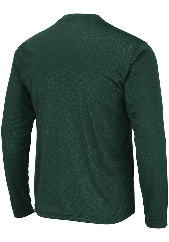 Colosseum Michigan State Spartans Green Luge Perf Long Sleeve T-Shirt - Image 2