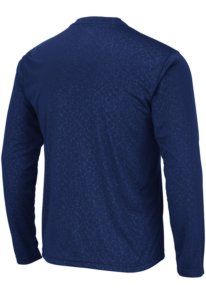 Colosseum Penn State Nittany Lions Navy Blue Luge Perf Long Sleeve T-Shirt - Image 2