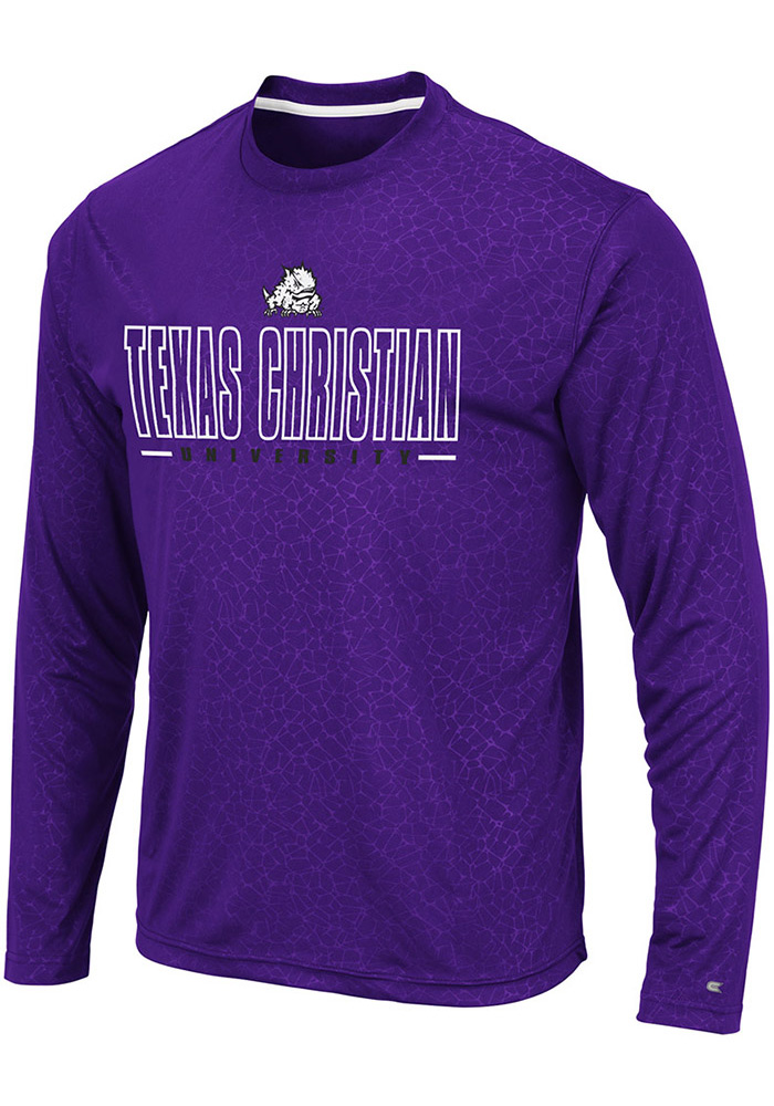 Colosseum TCU Horned Frogs Purple Luge Perf Long Sleeve T-Shirt - Image 1