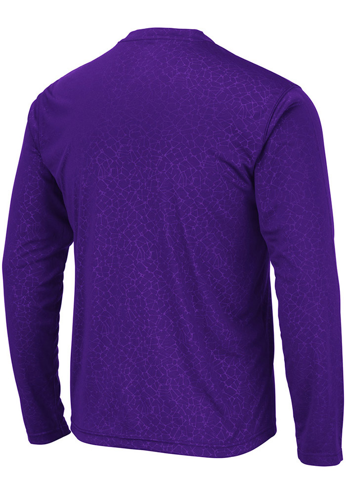 Colosseum TCU Horned Frogs Purple Luge Perf Long Sleeve T-Shirt - Image 2