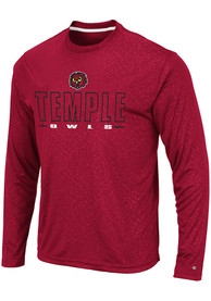 Temple Owls Colosseum Luge Perf T-Shirt - Red