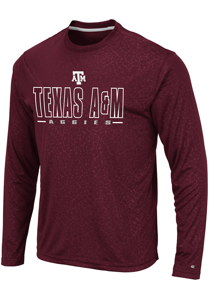 Colosseum Texas A&M Aggies Maroon Luge Perf Long Sleeve T-Shirt - Image 1
