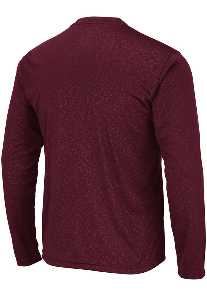 Colosseum Texas A&M Aggies Maroon Luge Perf Long Sleeve T-Shirt - Image 2