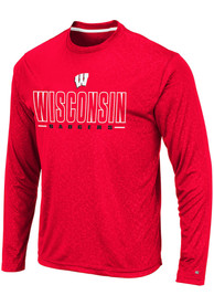 Wisconsin Badgers Colosseum Luge Perf T-Shirt - Red