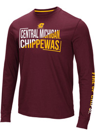 Central Michigan Chippewas Colosseum Lutz T Shirt - Maroon