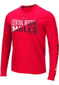 Central Missouri Mules Colosseum Lutz T Shirt - Red