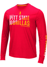 Pitt State Gorillas Colosseum Lutz T Shirt - Red