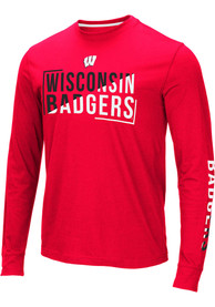 Wisconsin Badgers Colosseum Lutz T Shirt - Red