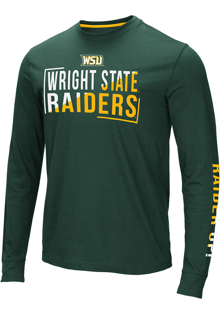 Colosseum Wright State Raiders Green Lutz Long Sleeve T Shirt - Image 1