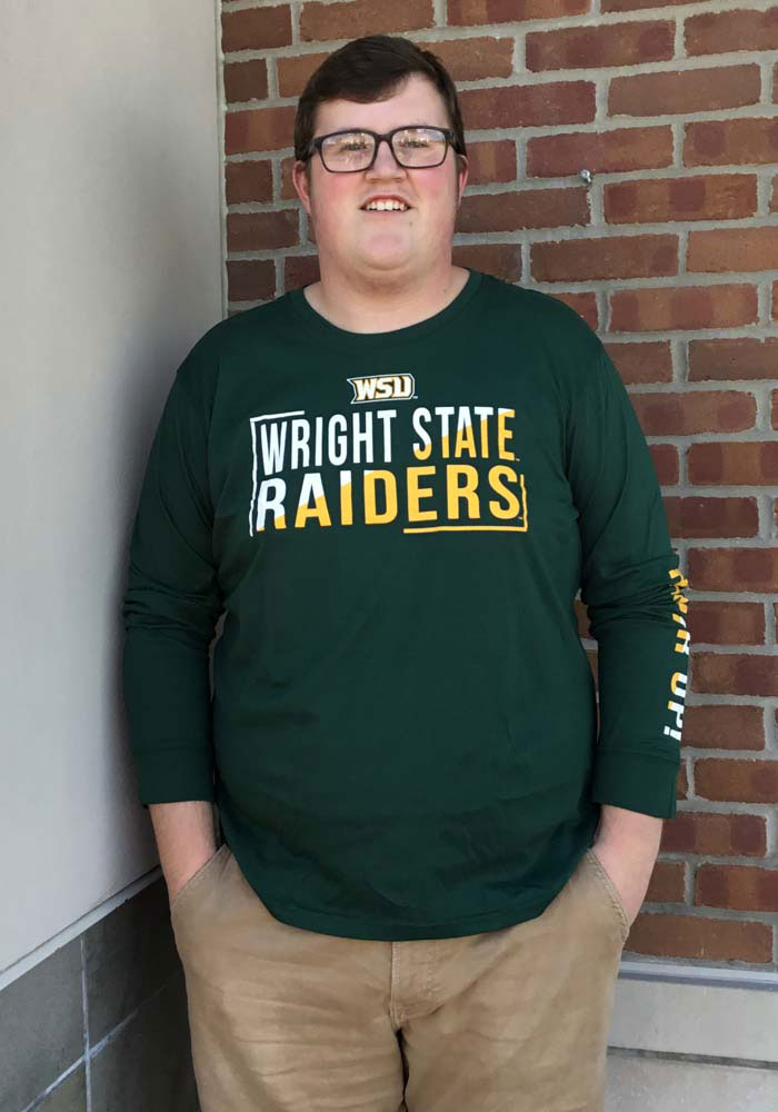 Colosseum Wright State Raiders Green Lutz Long Sleeve T Shirt - Image 2
