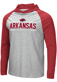 Arkansas Razorbacks Colosseum Slopestyle Hooded Sweatshirt - Grey
