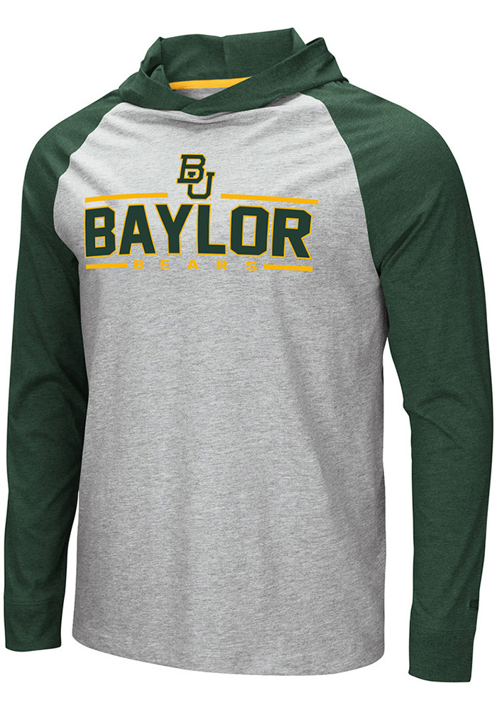 Colosseum Baylor Bears Grey Slopestyle Hoodie