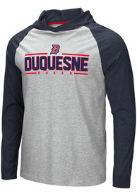 Duquesne Dukes Colosseum Slopestyle Hooded Sweatshirt - Grey