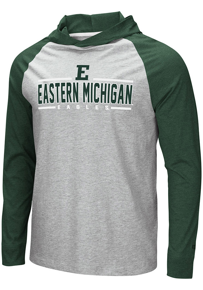 Colosseum Eastern Michigan Eagles Grey Slopestyle Hoodie 058d84cbe