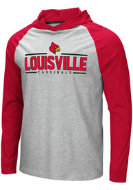 Louisville Cardinals Colosseum Slopestyle Hooded Sweatshirt - Grey