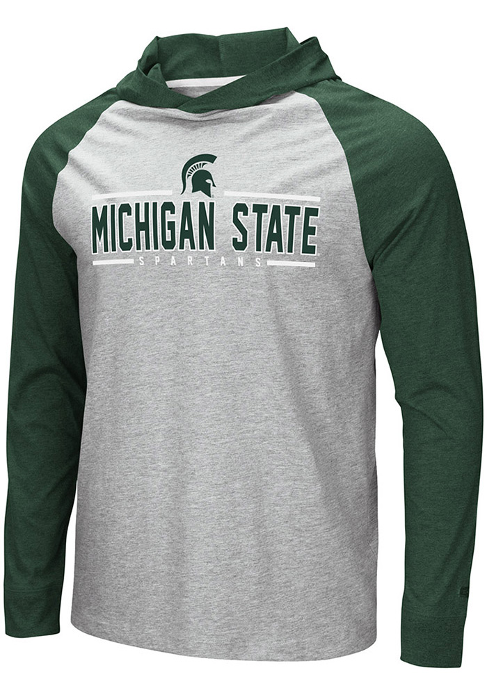 Colosseum Michigan State Spartans Grey Slopestyle Hoodie