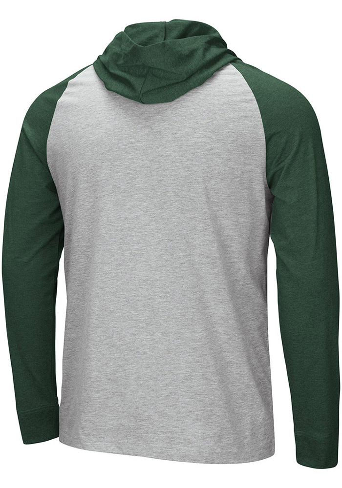 Colosseum Michigan State Spartans Mens Grey Slopestyle Long Sleeve Hoodie - Image 2