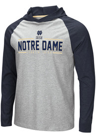 Notre Dame Fighting Irish Colosseum Slopestyle Hooded Sweatshirt - Grey