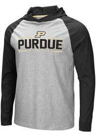 Purdue Boilermakers Colosseum Slopestyle Hooded Sweatshirt - Grey