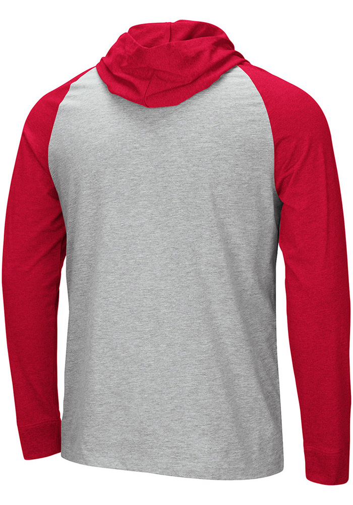 Colosseum Wisconsin Badgers Mens Grey Slopestyle Long Sleeve Hoodie - Image 2